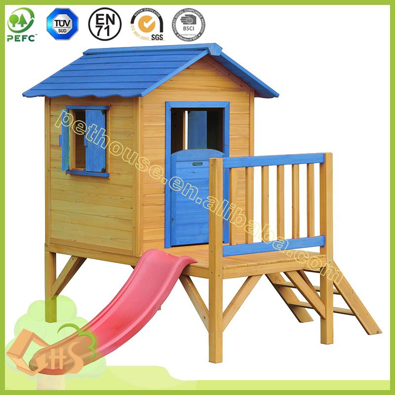 רק החוצה של משחקים לילדים באיכות גבוהה מותאם אישית צריף בית עץ בית גן--מספר NY-57