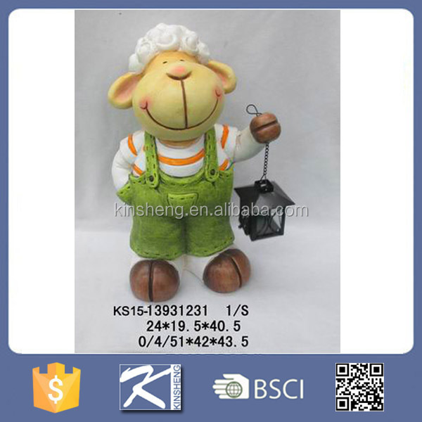 Garden animal garden decoration sheep with solar light