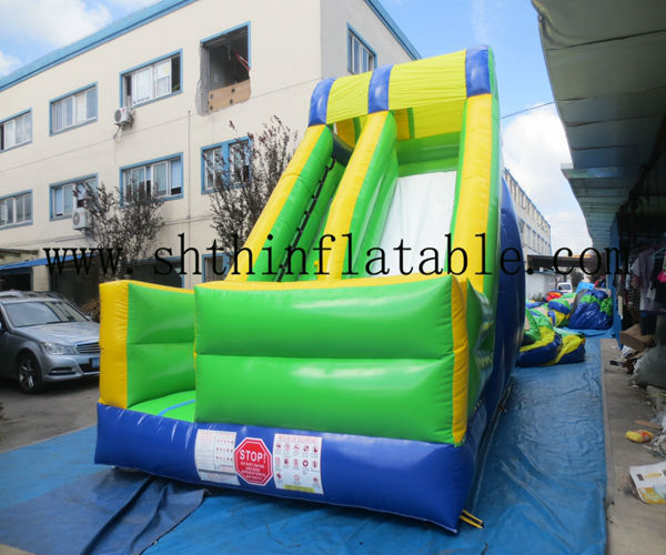 green color commercial inflatable slide for kids