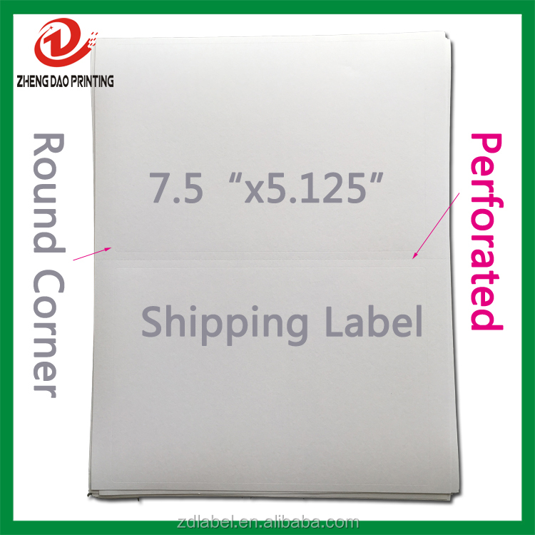 1000 Half-Sheet FBA Internet Shipping packing Labels for eBay/USPS/DHL ship label