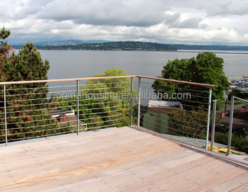 stainless steel balustrade wire rope railing system cable deck ...