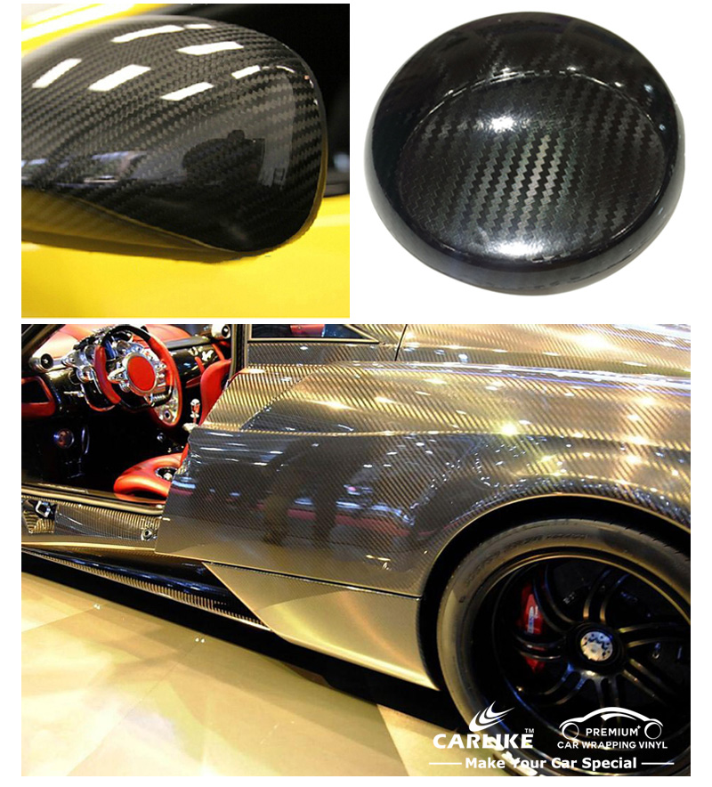 CARLIKE High Glossy Automobiles Motorcycles 5D Carbon Fiber Vinyl Car Wrap Sticker