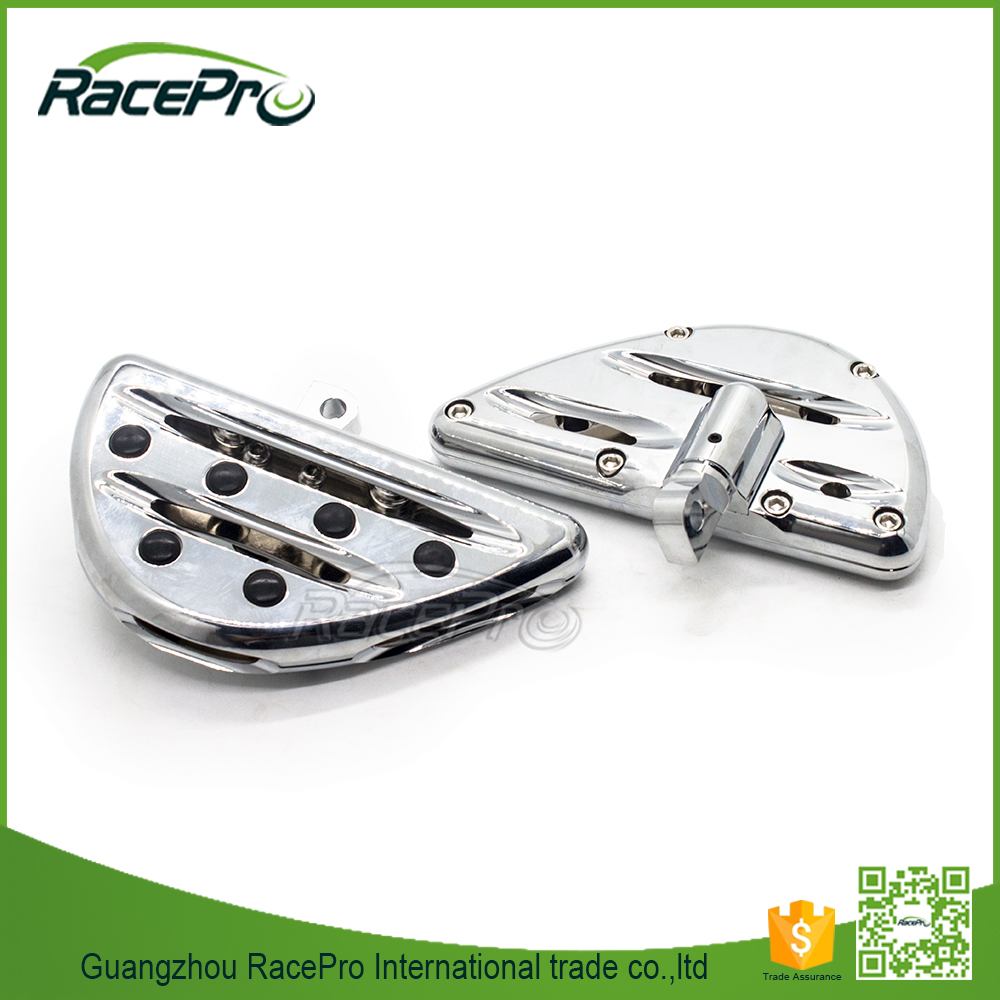 Chrome CNC Deep Cut Male Mount Motorcycle Footpegs Floorboard for Harley Davidson Dyna Sportster