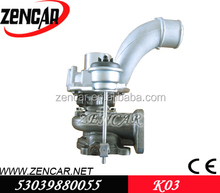 K18 material K03 Turbo 53039880055 for Master II 2.5L dCI with G9U720 Engine turbo 53037100517 8200036999