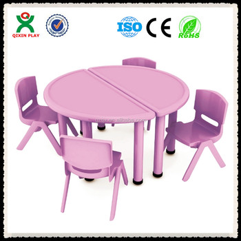 Gunagzhou Factory Low Price Kids Plastic Table And Chair Set(QX 194A)/