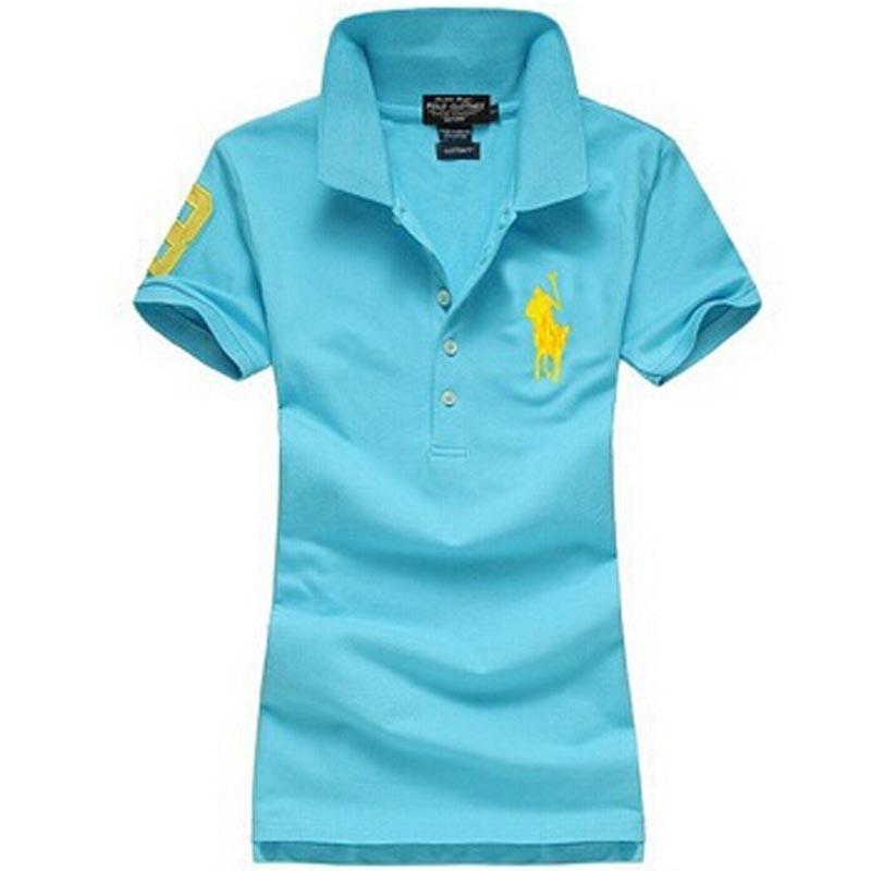 Женщины футболка поло марка 2015 вышивка большой лошадь поло женщины тонкий короткий рукав Camisa Feminina Ralp рубашка поло для женщин роковой