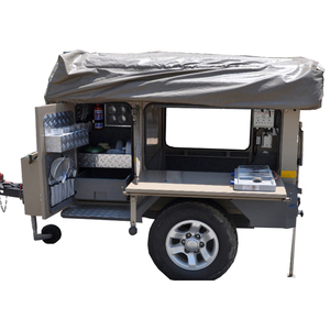 custom made power coated folding camper trailer with tents