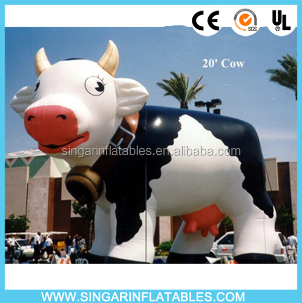 Huge Inflatable Cow Advertising Balloons, Large Inflatable Animals