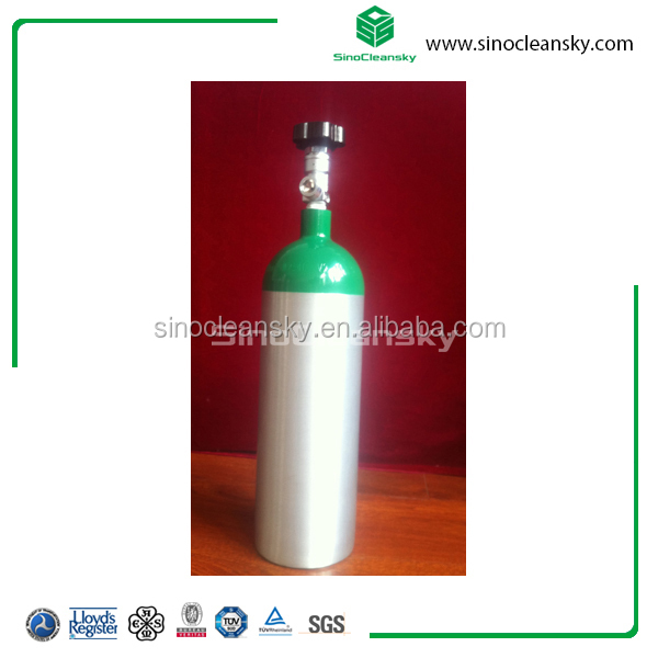 aluminum cylinder that include 58 lit of h2s