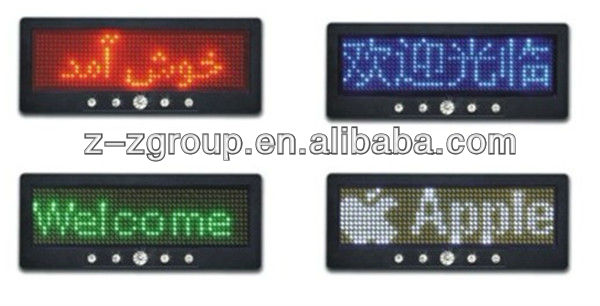 LED name tag mini display - portable smart name card - LED name tag mini display