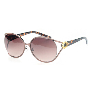 High quality floral decoration fashion women polarized sunglasses