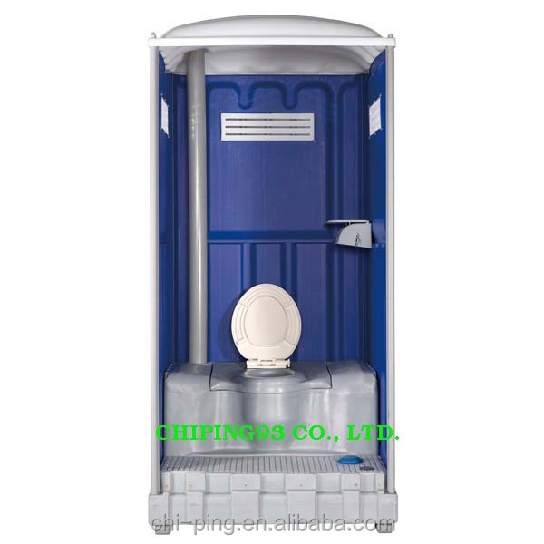 outdoor party event flush and assembled portable toilet restroom