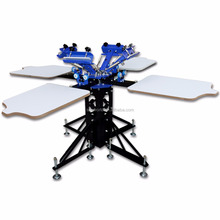 Hot-sale cheap 4 color 4 station t-shirt screen printing machine