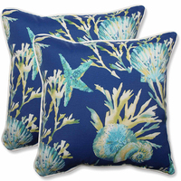 Printed ocean collections 45*45cm square 100%cotton canvas chair or sofa cushion/pillow