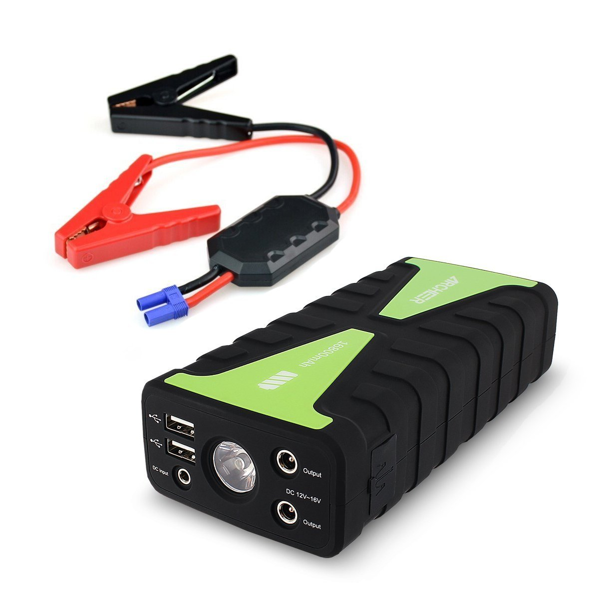VETOMILE Portable Car Jump Starter 800A 21000mAh Emergency Battery Booster Pack Power Bank with Dual USB Charging Outputs and LED Flashlight for Gasoline//Diesel Engines Car or Pickup Truck