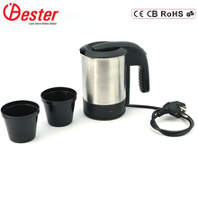Double Controller 0.6L Mini Cheap Stainless Steel Travel Water Electronic Kettle