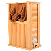 Durable in use wood far infrared portable steam foot sauna