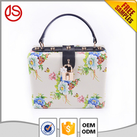 Wholesale leather/PU Handbag Fashion Women Clutch party bag online shop with metal decoration