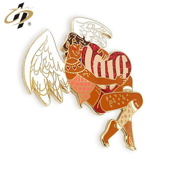 Factory supply unique lovely cupid enamel pins for Valentine gifts