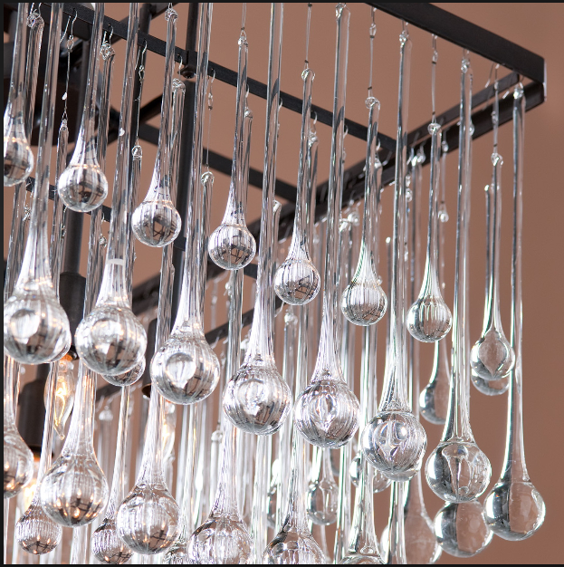decorative chandelier crystal glass raindrops parts