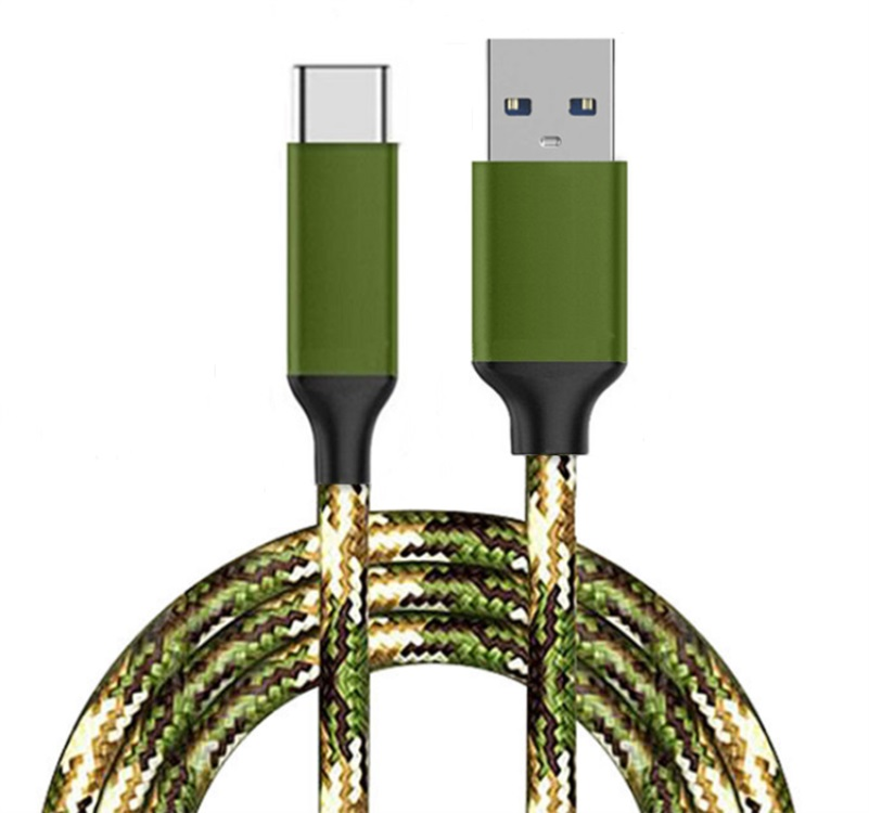 USB 3.0 TO Type-c nylon braided data cable metal aluminum shell cotton fast charge line