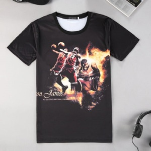 0dc7ba71411c Fashion Men s Creative Design Star James 3D Print Short Sleeve T Shirt