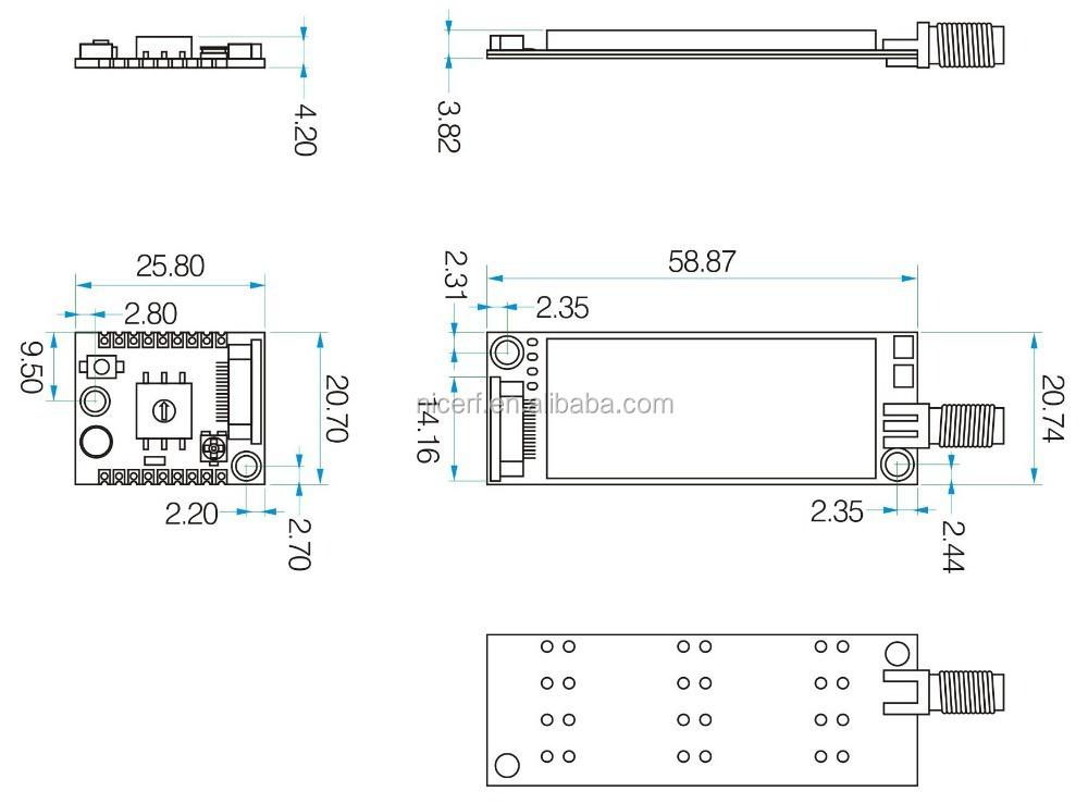 SA858 4W High Power 400-480MHz UHF Long Range All-in-one Walkie Talkie Module