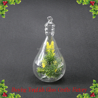 Clear glass bulb ball flower vase wholesale