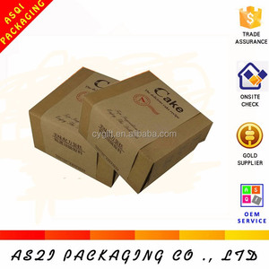 malaysia food grade corrugated brown paper moon cake box for gift packing