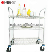 Einstellbare 3 Tier <span class=keywords><strong>ESD</strong></span> Chrom Metall Stahl Bier Trolley Warenkorb, NSF Zulassung