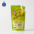 Customized fruit juice bag fresh juice packaging stand-up pouch with straw inside