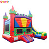 colorful popular Water Bounce House Jump House commercial inflatable combo Jumping Bouncy Castle inflatable bouncer slide
