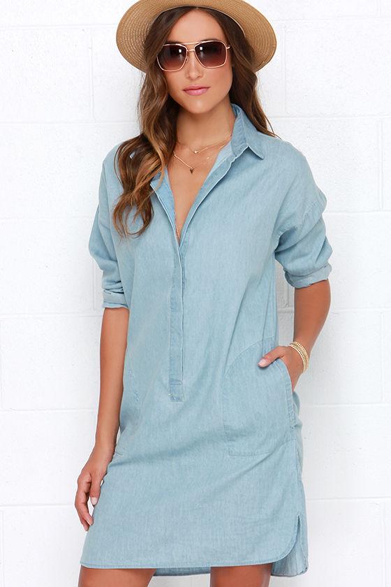 20f6a964775 Get Quotations · 2015 New Summer Denim Dress High Quality Long Sleeve Blue  Knee-Length Jeans Dress Ladies