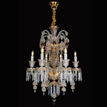 Austrian Crystal Flat 6 Light Chandelier