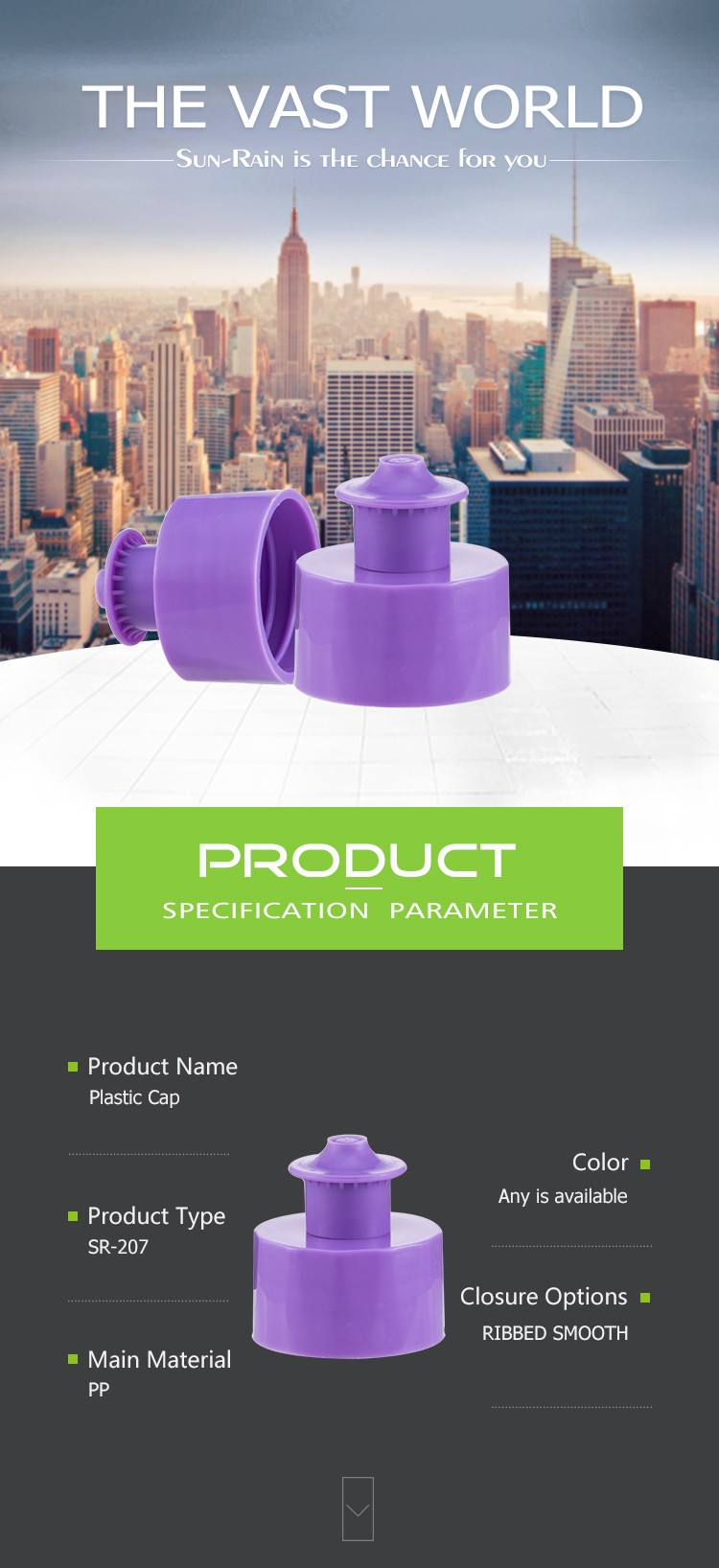Wholesale PP plastic screw shampoo disc top screw bottle plastic cap
