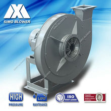 High pressure industrial centrifugal blower fan for conveying short fiber materials