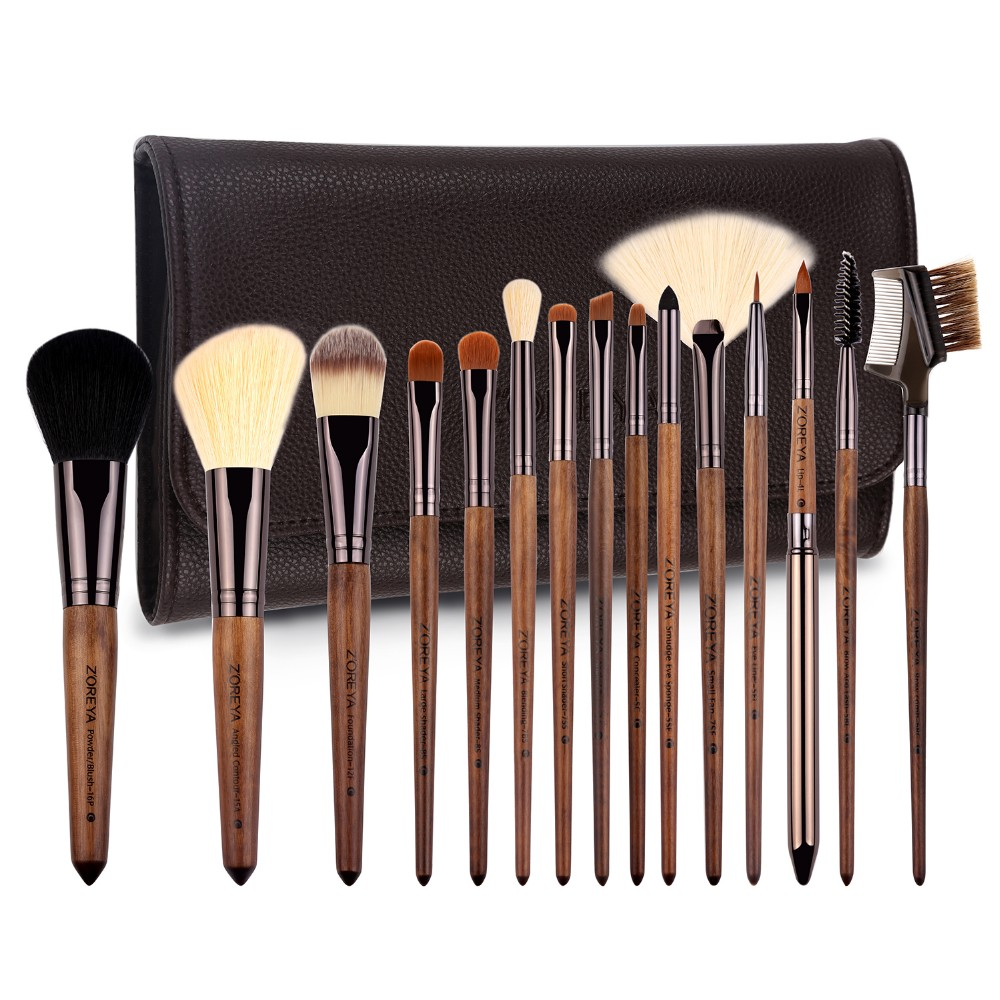 2017 Z'OREYA 15 pcs makeup brushes private label soft synthetic hair cosmetic tool Valentine's Day gift Christmas gift