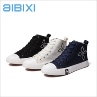 AIBIXI 2017 Made In Turkey Geometric Pattern Women Canvas Flat Shoes