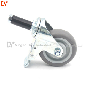 Damping Absorption Industrial 3 Inch Wheels Chromium Plating Tpr Rubber Material Swivel Casters