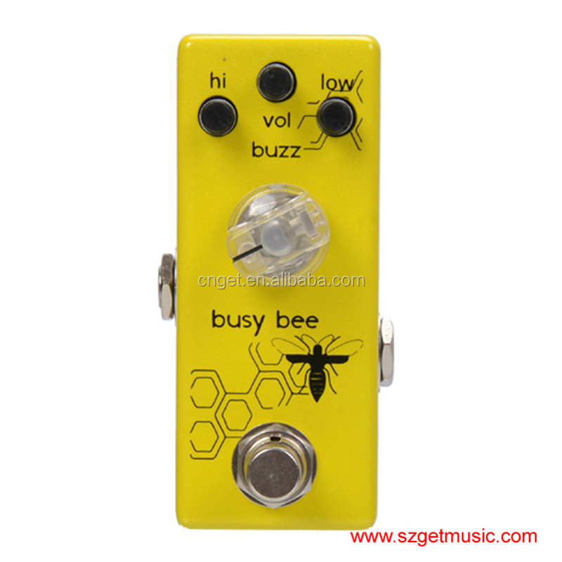 Movall Audio Mini Distortion Pedal MM-06 Busy Bee Preamp Boost Micro Pedal True Bypass