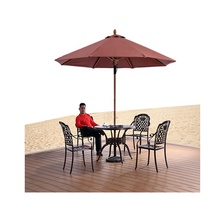 Hoge Sterkte 48mm Midden Pole Houten Strand Parasol <span class=keywords><strong>Outdoor</strong></span> Hand Trek <span class=keywords><strong>paraplu</strong></span>