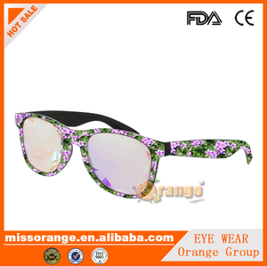 2018 SS series new design sunglasses frame, 3d digital printing sunglasses, water transfer sticker kailedoscope glasses