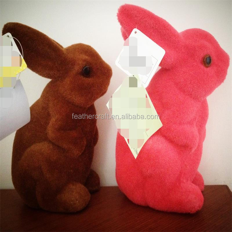 Easter decorative gift colorful plush easter rubbit bunny