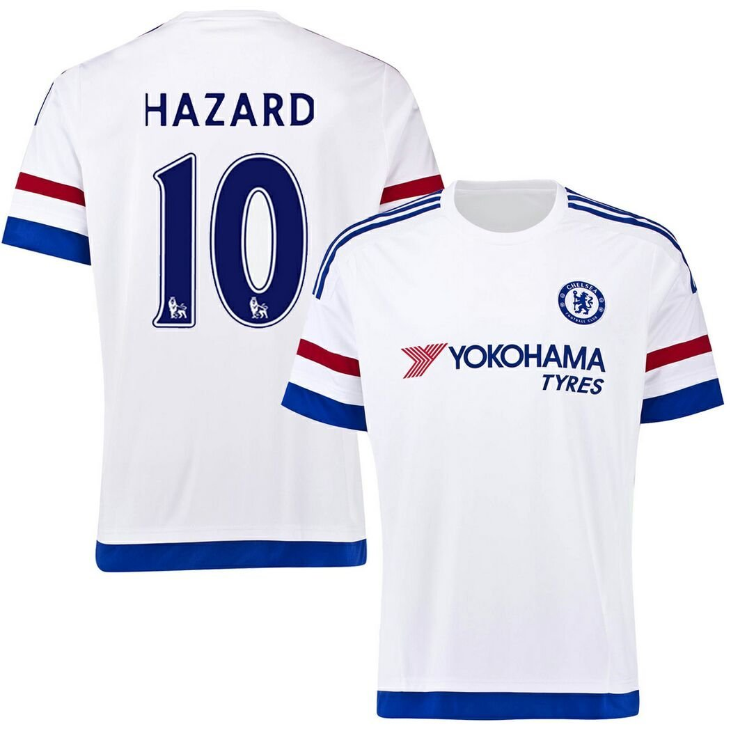 28ce5e71d Get Quotations · FC Football Jersey Mens Chelsea  10 Hazard Away Soccer  Jersey White