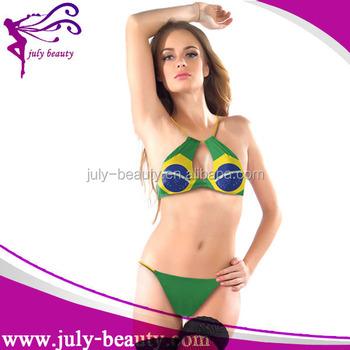 4c46b96596ac De Moda De Tiras Traje De Baño Brasil Bandera Bikini Para Las Mujeres - Buy  Sujetador De Bikini Brasileño Product on Alibaba.com