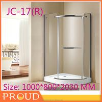 Corner Tub Shower Door Bathtub with glss door JS-17
