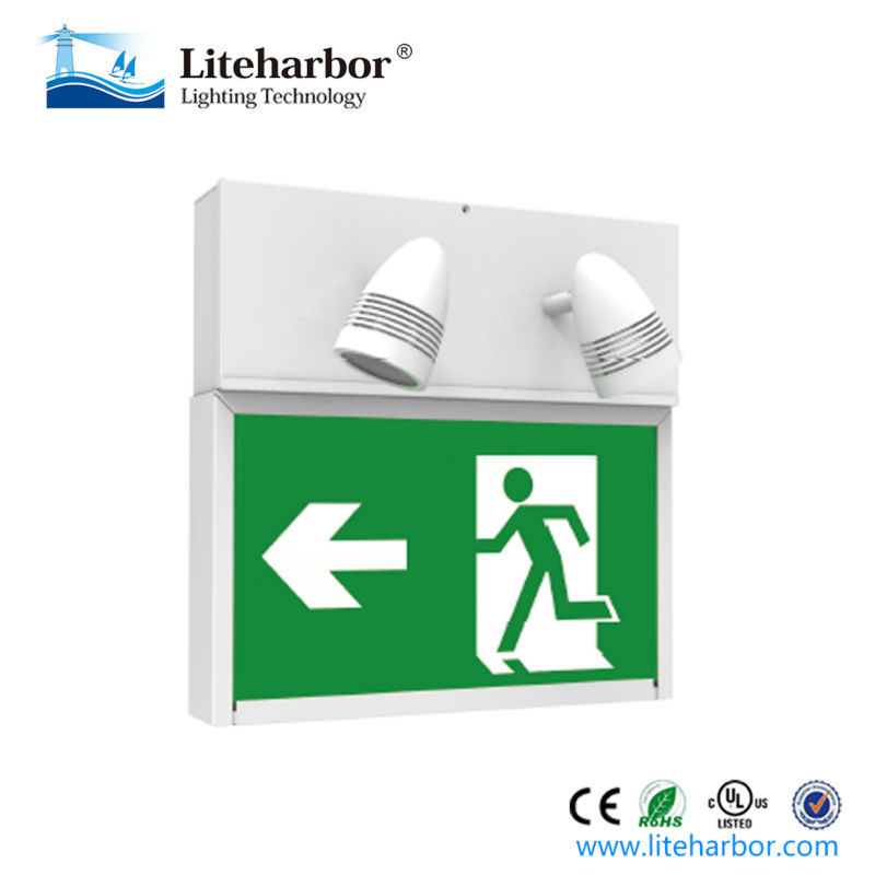 Low price running man LED emergency exit light waterproof led light fixtures