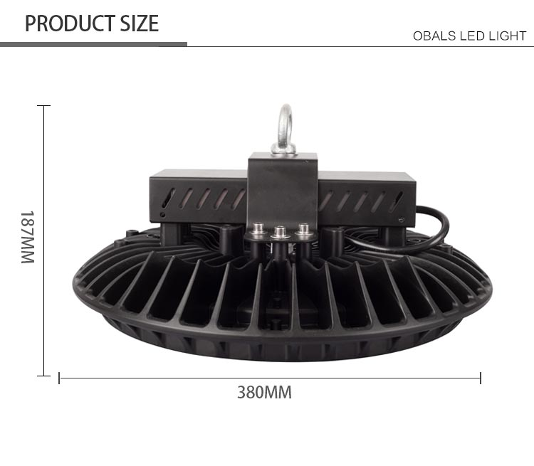 Obals 2017 new customized professional led high bay light ufo 100w 150w 200w