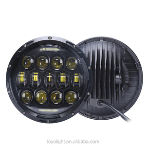 "Hot sale 7"" 75w jeep headlight with day time led driving light and parking light 12v 24v"