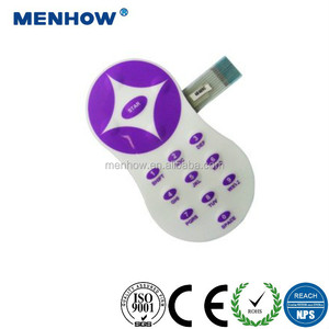 2018 Embossing membrane keypad with adhesive